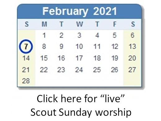 Link to Scout Sunday worship