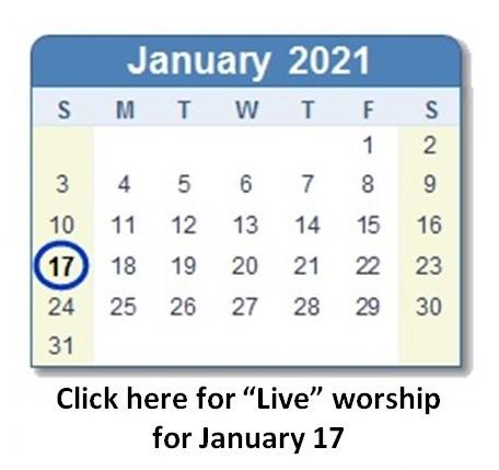 Link to January 17 worship