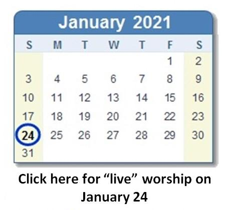 Link to January 24 worship